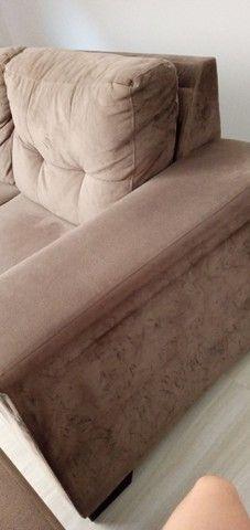 Sofá tecido suede aveludado 2,60 m - Foto 4