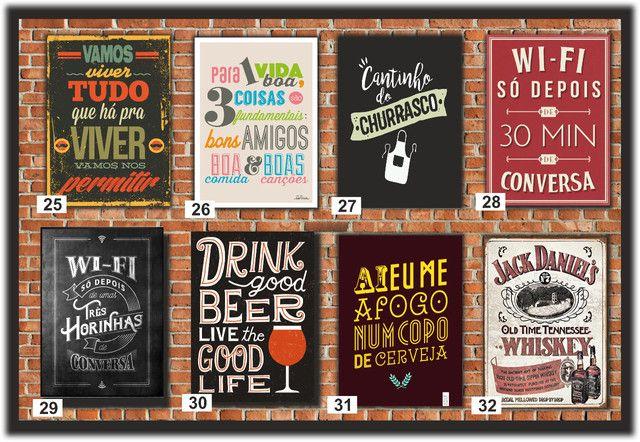 Quadros Decorativos ideal para: Cantinho do churrasco, Bares e Restaurantes e etc... - Foto 4