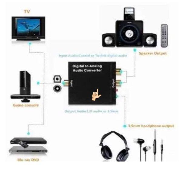 Conversor Áudio Digital Para Analógico Rca Knup Kp-3463 - Foto 3