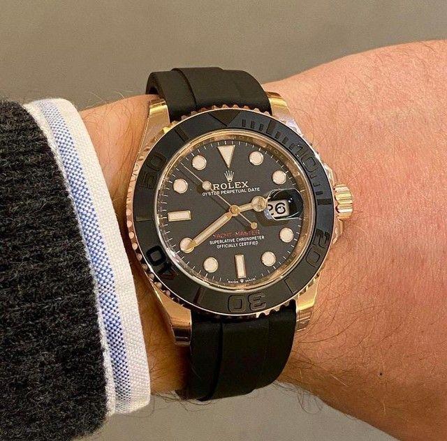 Relógio masculino Modelo Rolex Yacht-Master Premium AAA - Foto 5