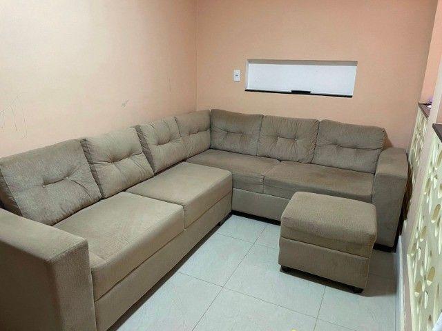 """Sofá em """"L"""" Seminovo, 1 ano de uso. R$ 1.500,00 - Foto 3"""