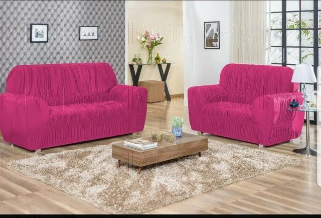 Capas de sofá 3 e 2 lugares - Foto 2