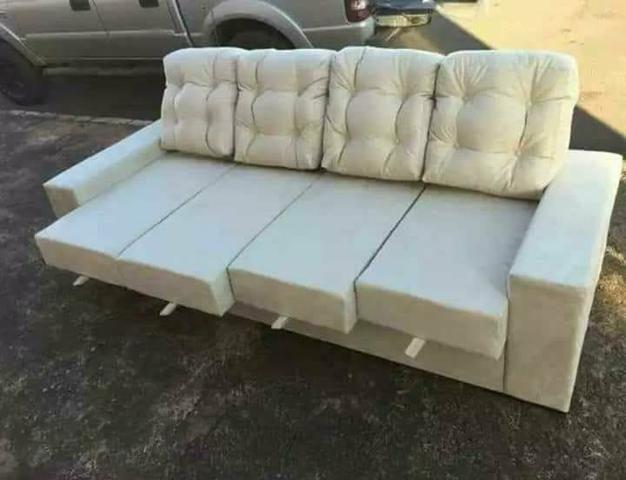 (SUPER PROMOÇÃO) - Sofa C/04 Assentos Retrátil NOVO - Foto 4