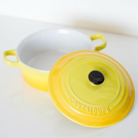 Panela Cantaloupe, tipo Le Creuset (usada)