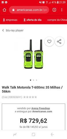 Talkabout motorola 600mc