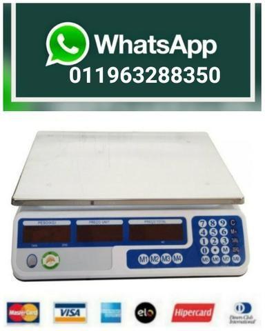 Balança Eletrônica Digital 40kg Visor Duplo Alta Precisão Completa (NOVA) ACEITA CARTÃO