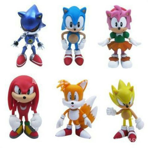 6 Miniaturas Sonic The Hedgehog/ Werehog Tails Mega Drive