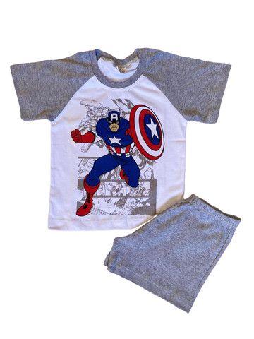 Pijama Infantil Capitão América - Calor - Foto 2