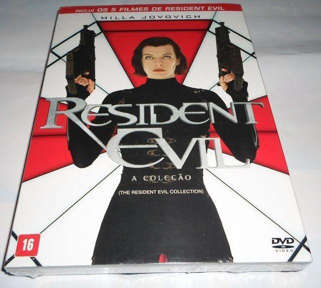 Box Dvd Resident Evil - 5 Filmes