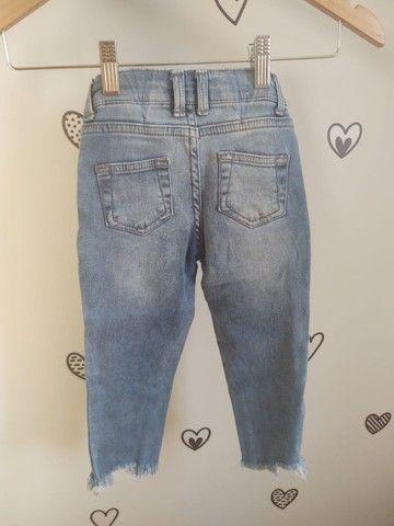 Calça Jeans Hering Kids Menina 4 anos - Foto 2