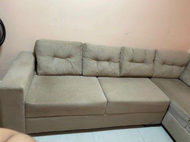 """Sofá em """"L"""" Seminovo, 1 ano de uso. R$ 1.500,00 - Foto 5"""