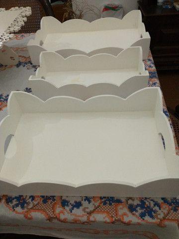 Conjunto de bandejas e base de bolo para festas - Foto 3