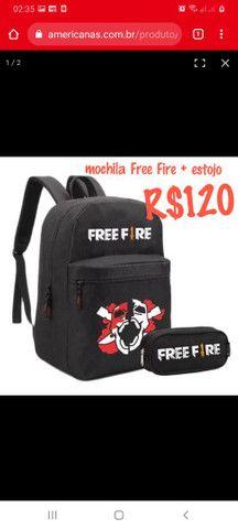 Mochila Free Fire + estojo  - Foto 2