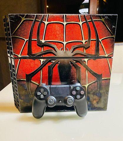 Playstation 4 Fat 500gb Envelopado Spider C/ 1 Controle + Garantia - Foto 3
