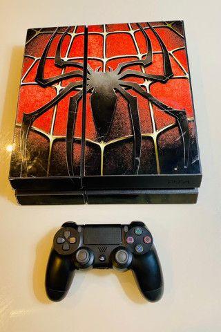 Playstation 4 Fat 500gb Envelopado Spider C/ 1 Controle + Garantia - Foto 2