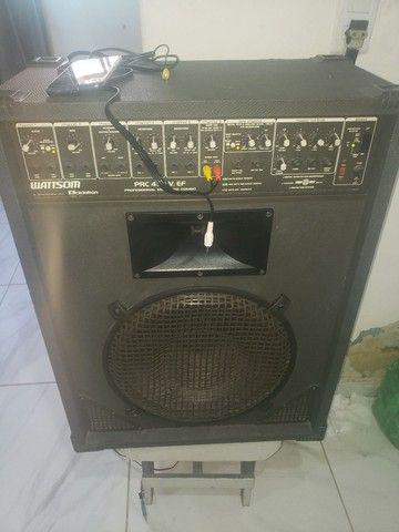 Amplificador e caixa wattson