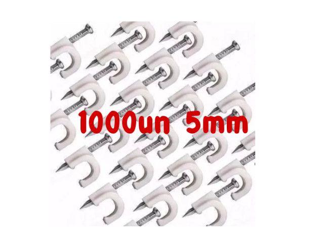 Fixador De Fios Coaxial Rg 59/ Cabo Drop - 5mm 1.000un - Promoção