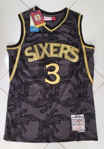 Camisa NBA retrô classics_Philladelphia Sixers nr 3 Iverson tamanho P