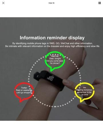 Relógio Pulseria Bluetooth inteligente - Foto 6