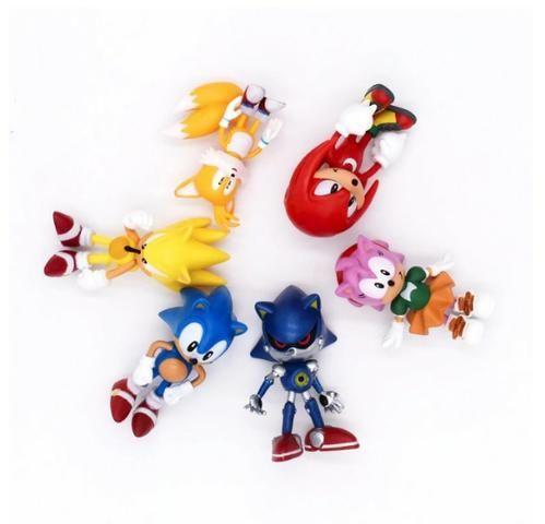 6 Miniaturas Sonic The Hedgehog/ Werehog Tails Mega Drive - Foto 4