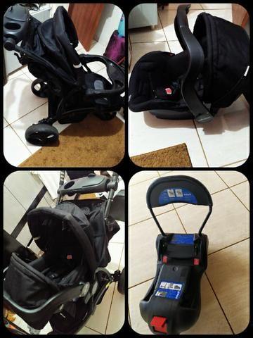 Carrinho de passeio + Bebê conforto + Base para veículos