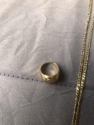 Corrente e anel banhados a ouro - Foto 5