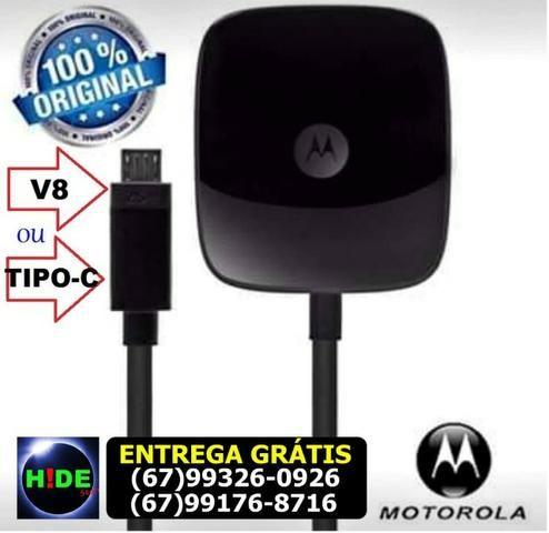 Carregador Turbo Motorola 5.7A Tipo C e V8 (entrega grátis)