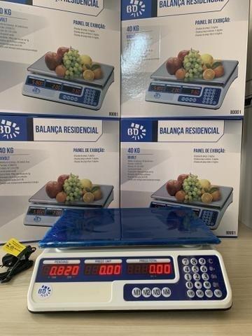Balança Eletrônica Digital 40kg Visor Duplo Alta Precisão Completa (NOVA) ACEITA CARTÃO - Foto 6