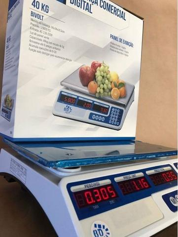 Balança Eletrônica Digital 40kg Visor Duplo Alta Precisão Completa (NOVA) ACEITA CARTÃO - Foto 5