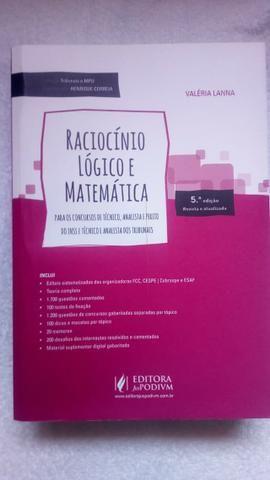 Livro Raciocínio Lógico e Matemático