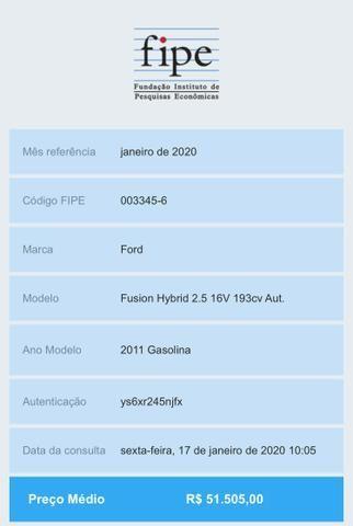 Fusion Hybrid 2011 Abaixo da Fipe - Foto 11