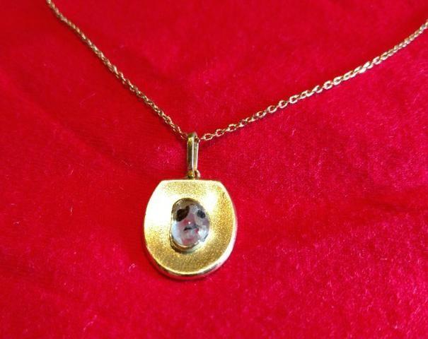 Pedra de coleção, pendente de ouro - Foto 5