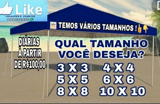 Locação de tendas/ promoção, diárias à partir de r$100,00 - Foto 4