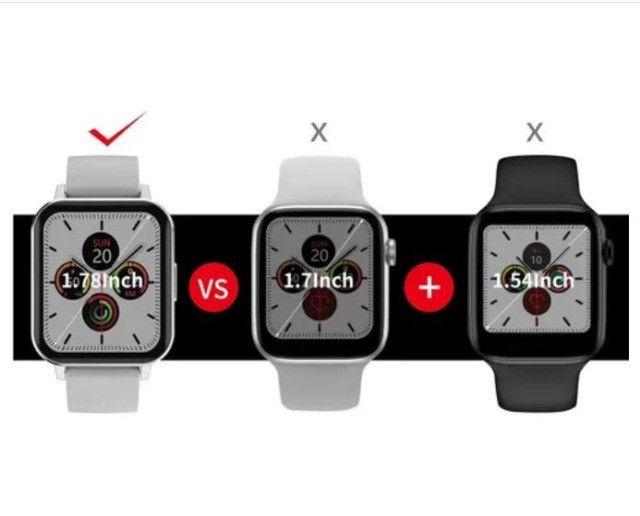Relógio Inteligente smartwatch Dtx prata + Pulseira Milanesa Tela 1,78 - Foto 2