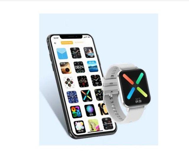 Relógio Inteligente smartwatch Dtx prata + Pulseira Milanesa Tela 1,78 - Foto 4