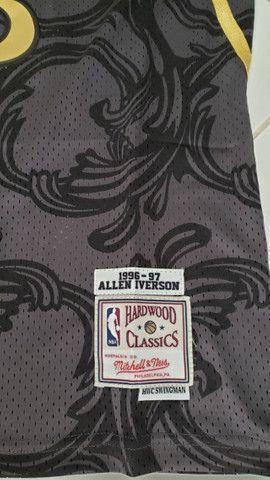 Camisa NBA retrô classics_Philladelphia Sixers nr 3 Iverson tamanho P - Foto 4