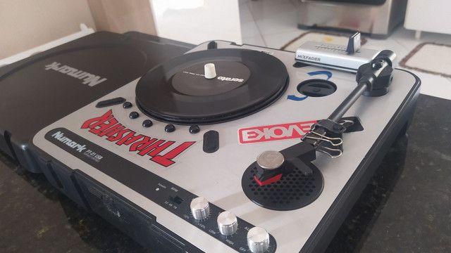 Toca disco dj Scratch numark pt01 +mix fader+time code serato+bihare platter - Foto 3