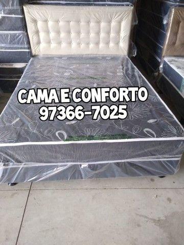 CAMA BOX CASAL, FEIRÃO DE FÁBRICA, FRETE GRÁTIS. - Foto 2