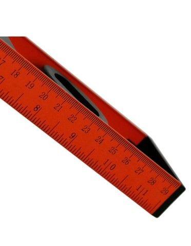 Nível Bolha em Alumínio com Base Magnética 30cm 3 Bolhas Fortgpro - Foto 5