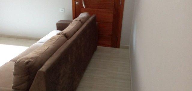 Sofá tecido suede aveludado 2,60 m - Foto 3