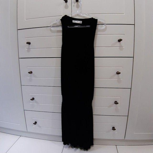 Vestido curto preto da Zara. - Foto 3