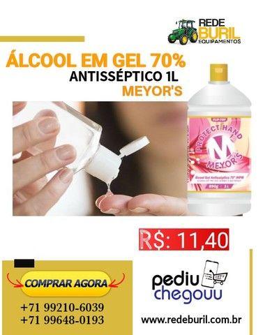 Álcool Em  Gel 70% 1L Antisséptico Meyors
