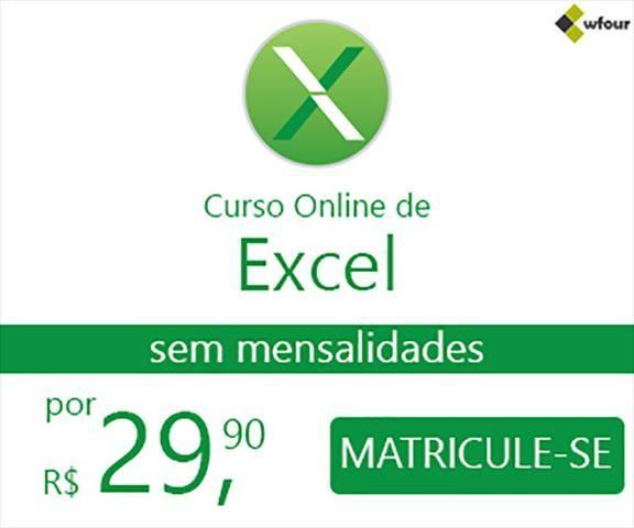 Curso Excel completo por apenas R$ 29,90 (sem mensalidades) - Foto 2