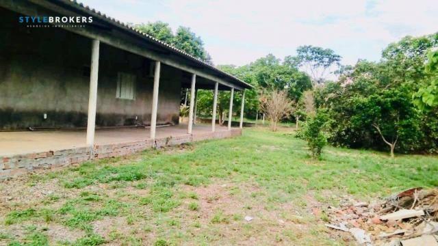 Chácara na Beira de Rio com 4 dormitórios à venda, 3600 m² por R$ 260.000 - Zona Rural - S - Foto 17