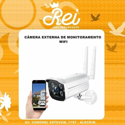 Câmera IP EXTERNA com INFRAVERMELHO, LED, a prova dagua e conexão WIFI
