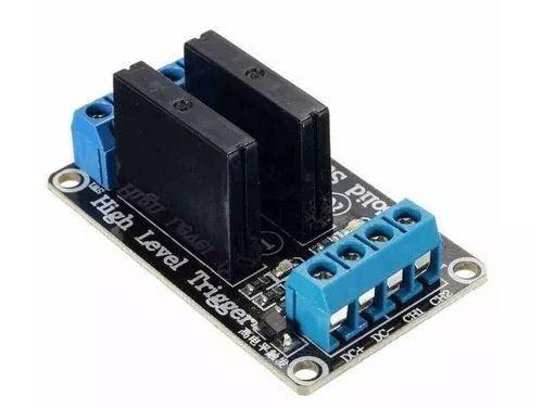 COD-AM26 Módulo Rele De Estado Sólido 2 Canais 5v Ssr Arduino - Automação - Robotica