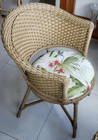 Conjunto cadeiras de varanda em vime - Foto 4