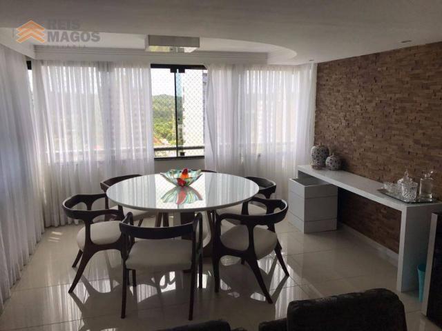 Apartamento com 3 dormitórios à venda, 235 m² por R$ 670.000 - Tirol - Natal/RN - Foto 13