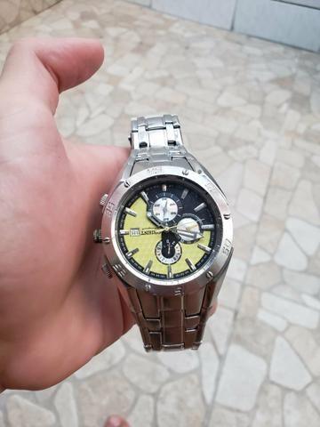Relógio Orient original prata, aprova de água aço inoxidável - Foto 2