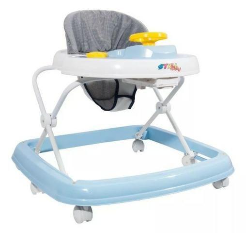 cf638d49a1 Andador Infantil Musical Styll Baby Azul e Branco - Produto Novo ...